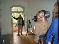 Holzfußboden und Medieninteresse